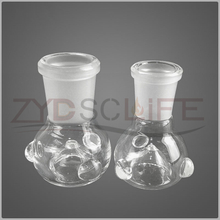 White mushroom head glass hookah accessories 14mm 19mm