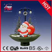 (118030U075-ST-GW) Snowing Christmas Decorations with Umbrella Base