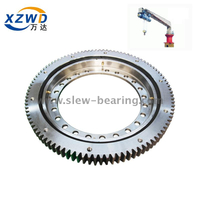 Light high speed with external gear used for deck crane slewing bearing