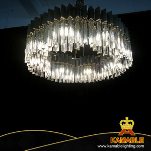 Stainless steel decorative crystal pendant light (KAP188078)