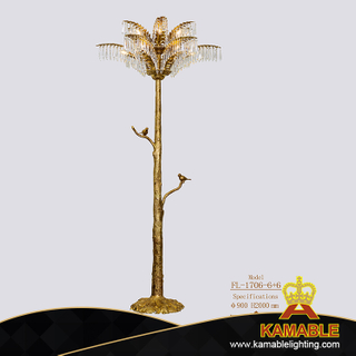 Hotel Antique Crystal Brass Floor Lamp (FL-1706+6+6)
