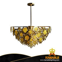Elegant Contemporary Yellow Crystal Pendant Light (KPL1805)