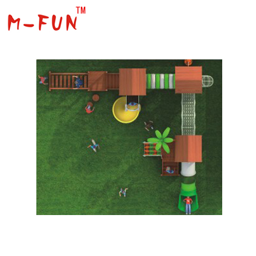 Wooden toy playground