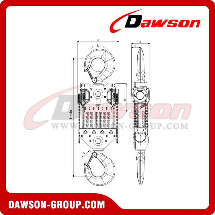 DS-DF-C 50T, 60T New Design Chain Hoist, Chain Block
