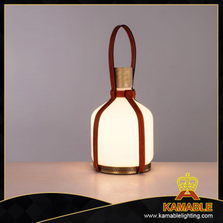 Special glass bottle design leather table lighting. (10446-600)