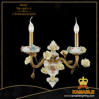 Flower decorative home brass wall lamp (TB-0925-2)