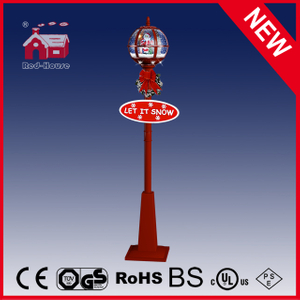 (LV30175D-RRR11) All Red Christmas Light Decorations for Street with Snow
