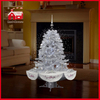 (40110U120-SS) All Silver Snowing Christmas Tree with LED Lights and Music