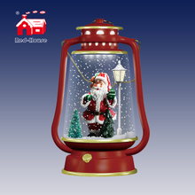 Hot-Selling Red Led Table Lamps with Santa or Snowman inside as unusual Gifts for Children