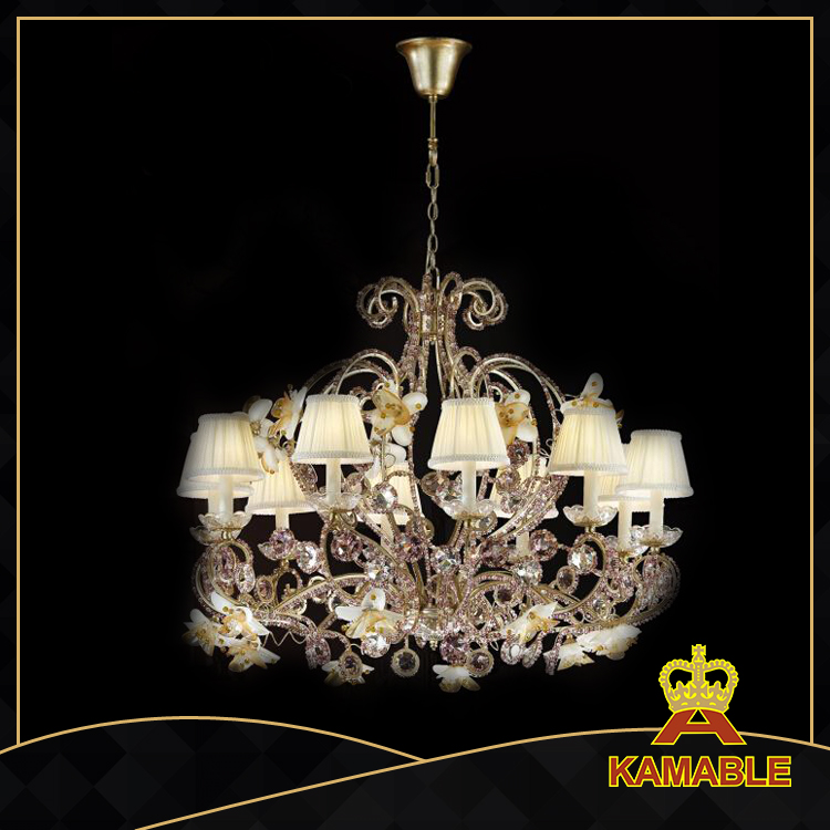 Hotel Project Brass With Crystal Candle Chandelier Md0909 10