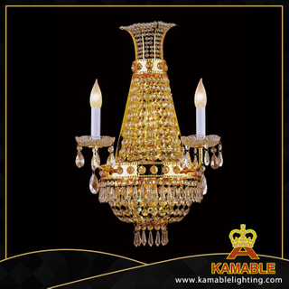 Chinese candle decorative pear beads crystal wall lamps(YHwb2528-L4)