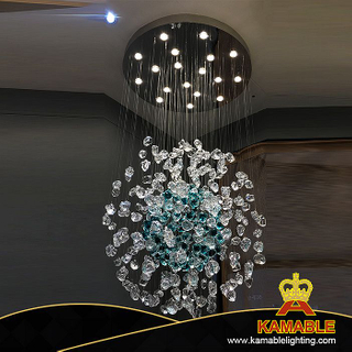 New Design Project Coloured Glaze Chandelier Pendant Light (KAP-G900)