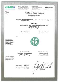 IMQ CERTIFICATE FOR COE SERIES