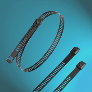 Epoxy Fully-Coated Ladder Single-Lock Stainless Steel Cable Ties