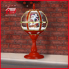 (LT30059E-RJ10) Lace Decoration Red Festival Tabletop Lamp with Santa Claus