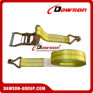 Ratchet Tie Downs, High Tenacity Polyester of Lashing Strap