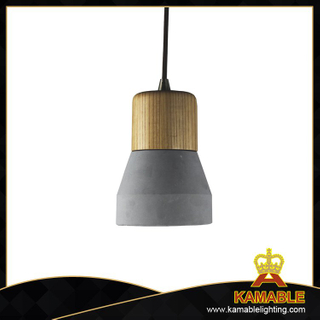 Ash wood concrete pendant lights (PC3001)