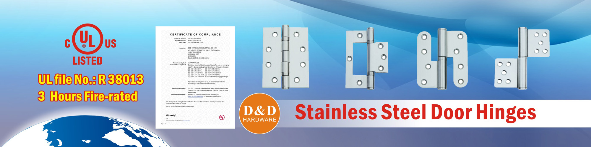 Stainless Steel Door Hinges-D&D Hardware supplier