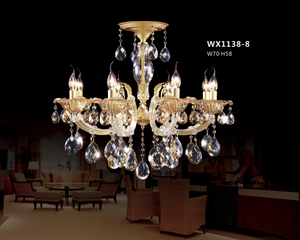 Crafted design decorative brass pendant lamp (WX1138 - 8)