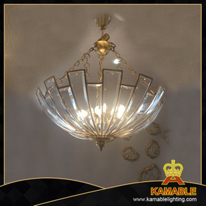 Hotel decorative glass brass pendant lighting(KA787878)