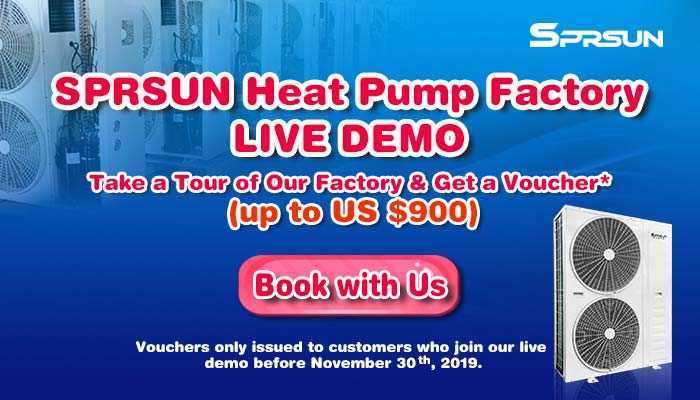 SPRSUN Heat Pump Factory Live Demo
