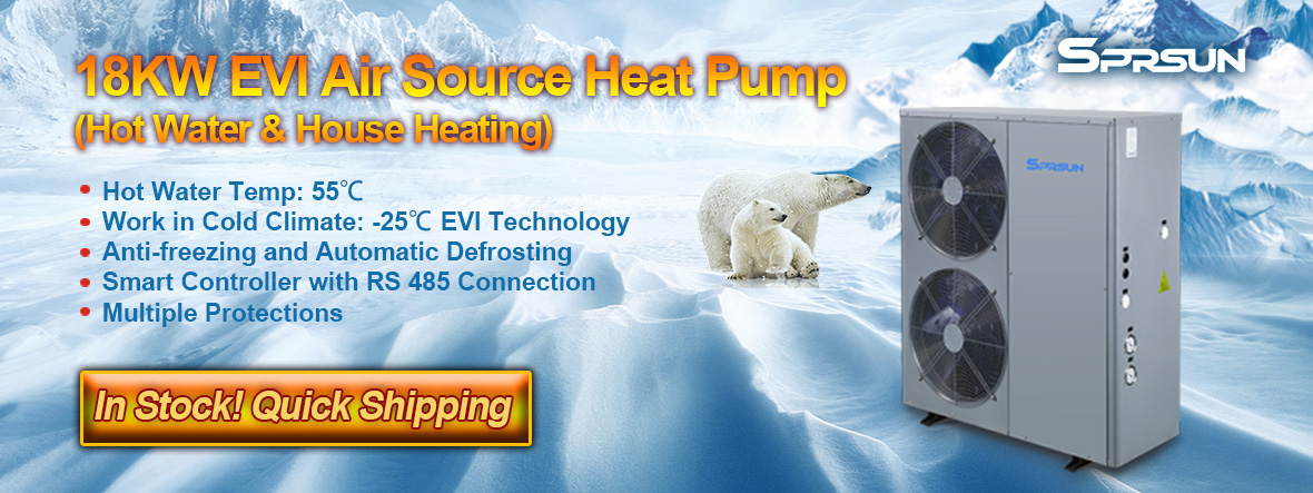 18KW EVI Air Source Low Temperature Heat Pump