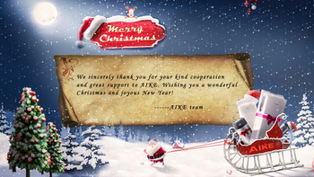 AIKE Wish You a Merry Christmas & Happy New Year - Secador de manos con grifo de cocina AIKE