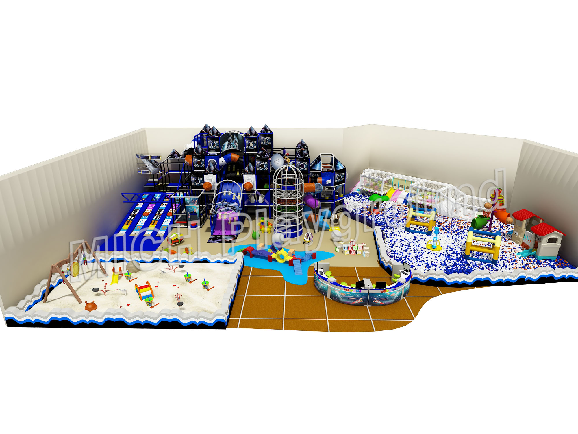 Mich Funny Indoor Amusement Playground 6632B