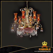 Luxury style brass material chandelier (MD0902-6-2A)