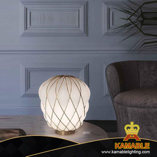 Decorative Modern Fancy Glass Desk Lamp for Bedroom (KA9935T/white)