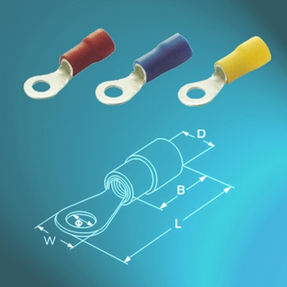 Vinyl-insulated Ring Terminals-Single Crimp