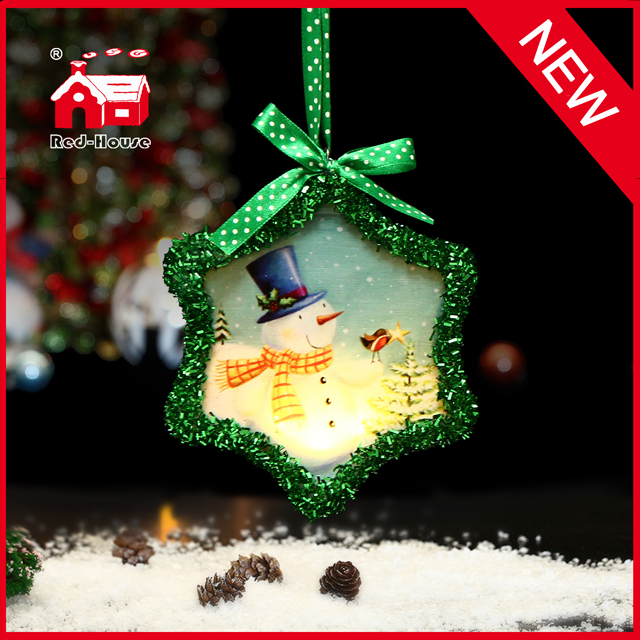 Promotional Glass Christmas Hanging Christmas Snowflake Decoration