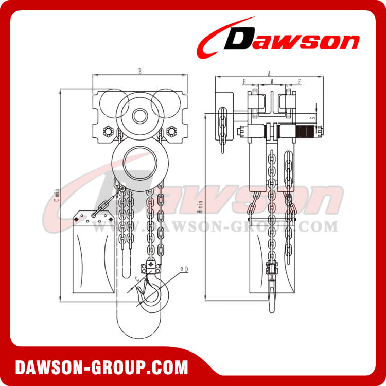 HSS-ZHC type stainless steel chain hoist - dawson group