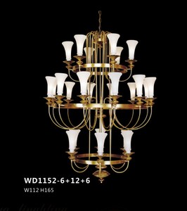 Elegant design decorative brass pendant lamp (WD1152 - 6+12+6)