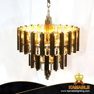 Luxury Design Modern Decorative Cake Golden Crystal Chandelier for Restaurant (KJ032)