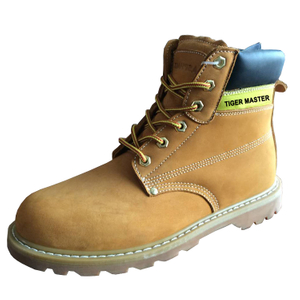 GY001 yellow nubuck leather steel toe goodyear safety shoes