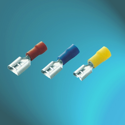 Vinyl Insulated Female Push-on-Double Crimp