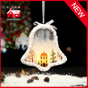 Wholesale Lighting Bell Shape Ornaments with Lace Hanger