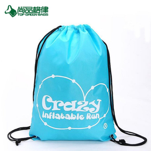 Custom Cheap Polyester Drawstring Bag Drawstring Backpack (TP-DB317)