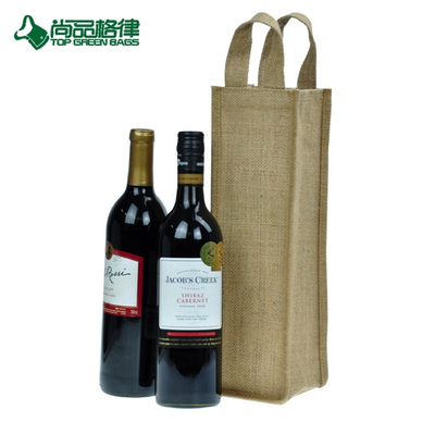 Most Popular Single Bottle Burlap Wine Bags Jute Gift Wine Bag (TP-WB129)