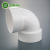 schedule 40 3-in dia 90-degree PVC pipe elbow fitting