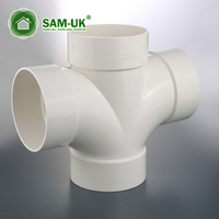 Plastic pipe fittings schedule 40 PVC double downpipe elbow