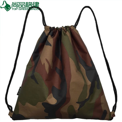 Military Woodland Bag Camo Drawstring Backpack (TP-dB077)