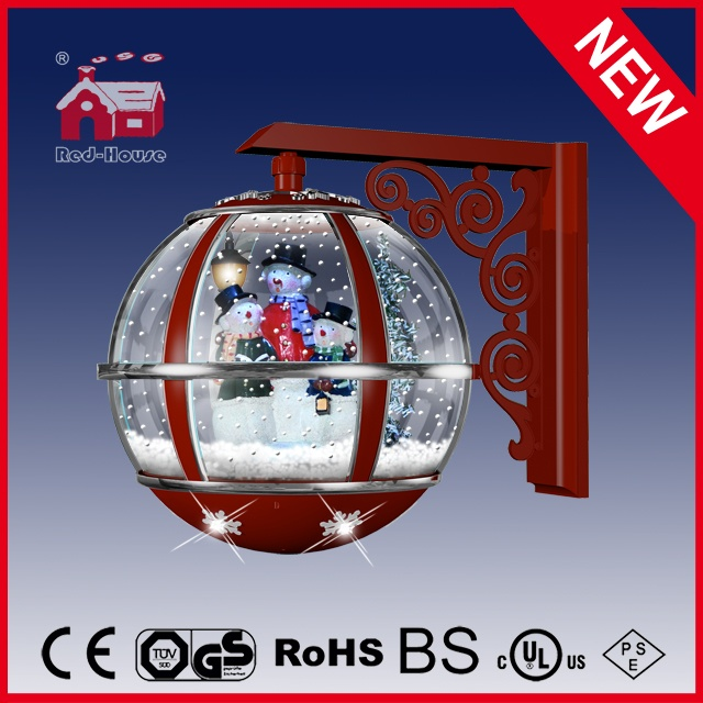 (LW30033-3S2-RS11) Snowglobe Wall Lamp