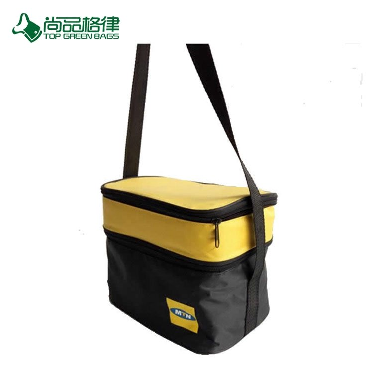 High Quality Multi Pocket Double Deck Customize Patterns Simple Style Lunch Bag
