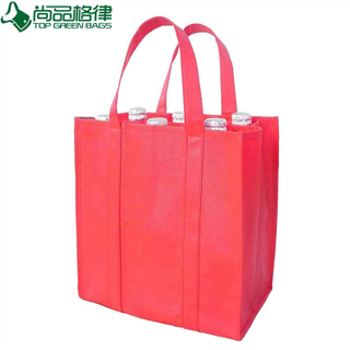 Non Woven Tote 6 Bottle Bottle Wine Bag (TP-WB027)