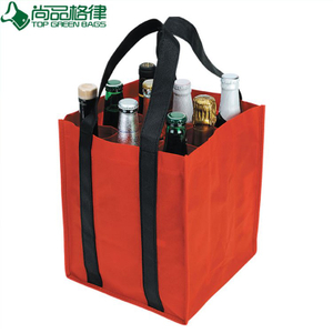 Reusable 9 Bottle Carrier 420d fabric wine bag(TP-WB020)