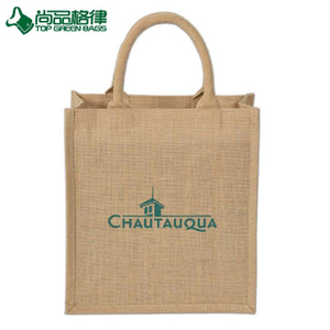 Promotional Recycle Grocery Bags Laminated Jute Burlap Tote Bag (TP-SP657)