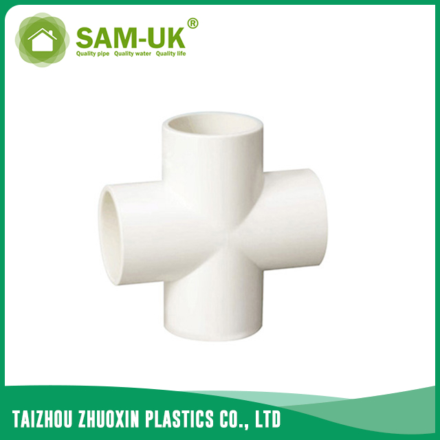 4 way PVC pipe connector for water supply GB/T10002.2