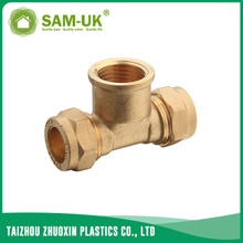 Brass female tee fitting for water supply